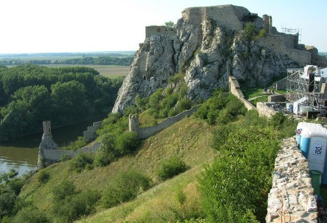 Devin Castle towards the confluence of the Danube and Morava - Photo courtesy of Markus Schellhorn