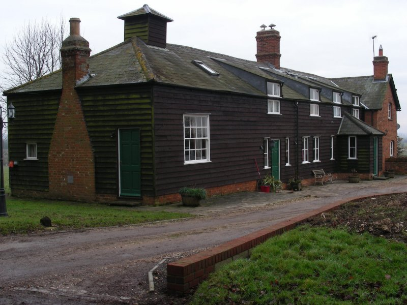 A Kelshall farmstead, just off Kelshall Street near the Church of St Faith, Hertfordshire.