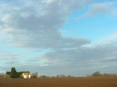Beckfield Farm - somewhere across the ploughed field is a public footpath!