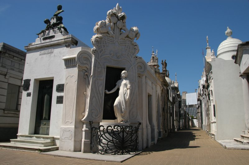 Mausoleum of Rufina Cambaceres, who was buried alive.